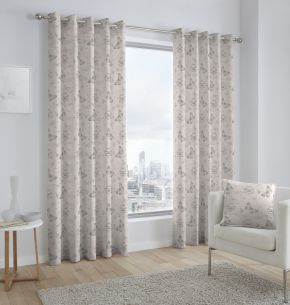 Fusion Papillon Eyelet Lined Curtains Cream