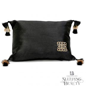 Laurence Llewelyn-Bowen Concierge Tasselled Filled Cushion Black
