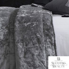 Laurence Llewelyn-Bowen Concierge Crushed Velvet Bedspread Silver