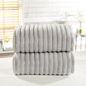 2 Piece Ribbed 100% Cotton Bath Sheet Set