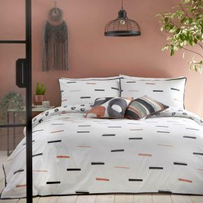 Appletree Tenley 100% Cotton Duvet Set Coral