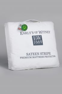 Early's Of Witney Sateen Stripe Quilted Mattress Protector