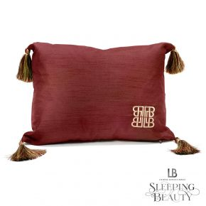 Laurence Llewelyn-Bowen Concierge Tasselled Filled Cushion Claret