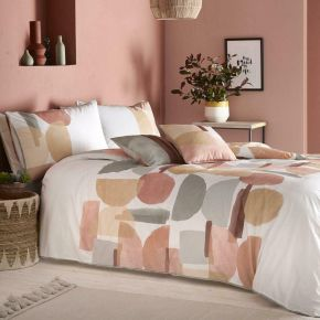 Appletree Duval 100% Cotton Duvet Set Coral