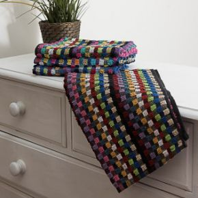 Multi Random Stripe Tea Towel Pack of 6
