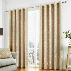 Curtina Sagano Eyelet Lined Curtains