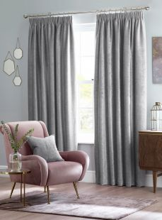 Design Studio Langley Pencil Pleat Tape Lined Curtains