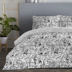 Fusion Zebra Duvet Set Charcoal