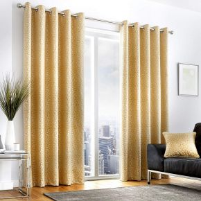 Curtina Leopard Eyelet Lined Curtains