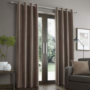 Catherine Lansfield Faux Suede with Lining Curtains