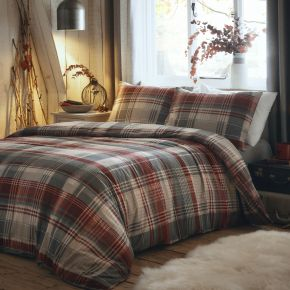 Dreams & Drapes Connolly Brushed Cotton Duvet Set Red