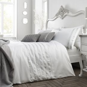 Caprice Home Garbo Duvet Set White