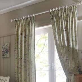 Fusion Staveley Pencil Pleat Curtains Green