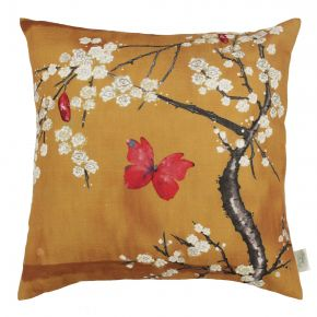 Angel Strawbridge The Chateau Blossom Cushion Ochre