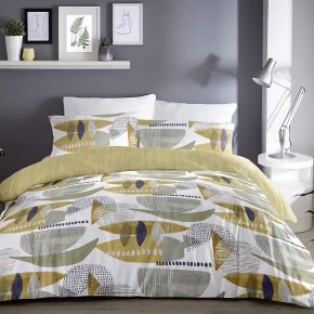 Dreams & Drapes Saldana Duvet Set Ochre