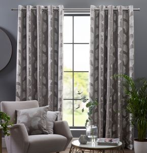 Gingko Eyelet Lined Curtains