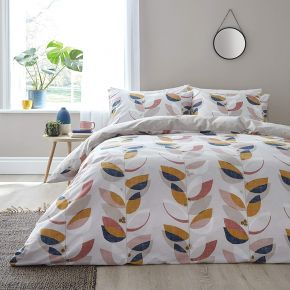 Bianca Layered Leaf Egyptian Cotton Duvet Set Natural
