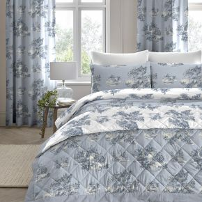 Dreams & Drapes Country Toile Duvet Set Blue