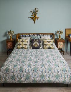 The Chateau Deco Heron Duvet Set Grey/Navy