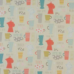 Americano PVC Fabric Tablecloth Multi