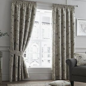Andria Curtains with Pencil Pleat Heading by Curtina