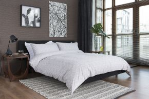 Disks Duvet Set - Silver