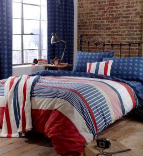 Catherine Lansfield Stars and Stripes Duvet Set