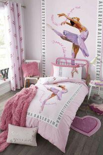 Catherine Lansfield Ballerina Easy Care Duvet Set Pink