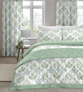 Dreams & Drapes Emily Duvet Set Green