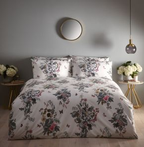 Oasis Botanical Bouquet Duvet Set Ivory