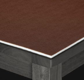 Musbury Fabrics Executive Table Protector In Brown