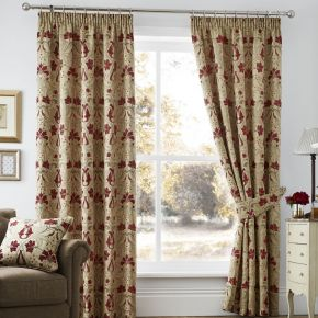Burford Readymade Curtains with Pencil Pleat Heading by Curtina