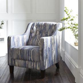 Clarke & Clarke Hampton Chair Latour Indigo