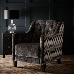 Clarke & Clarke Hampton Chair Stucco Ebony