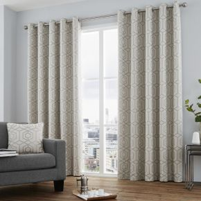 Camberwell Curtains with Eyelet Heading by Curtina