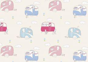 PVC Wipe Clean Fabric By The Metre - Caravans Multi