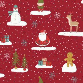 Cool Yule PVC Fabric Tablecloth