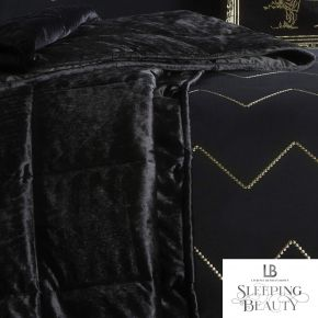 Laurence Llewelyn-Bowen Concierge Crushed Velvet Bedspread Black