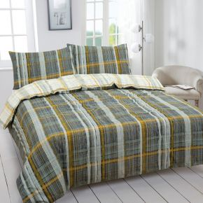 Vantona Easy Living Clifford Plaid Duvet Set