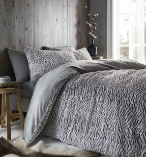 Catherine Lansfield Wolf Duvet Set Neutral