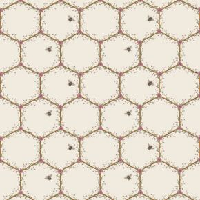 The Chateau Honeycomb & Bees Cream Fabric