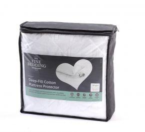 The Fine Bedding Company Deep Fill Cotton Mattress Protector