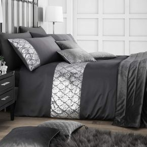 Caprice Home Hayworth Duvet Set Slate
