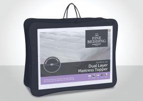 The Fine Bedding Company Dual Layer Mattress Topper