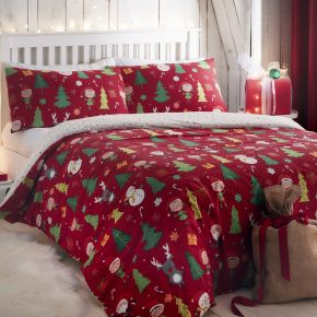 Bedlam Elf & Santa Duvet Set Multi