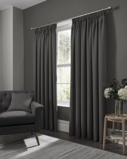 Elba Readymade Curtains with Pencil Pleat Heading by Studio G