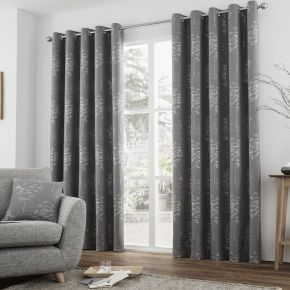 Elmwood Curtains with Eyelet Heading by Curtina