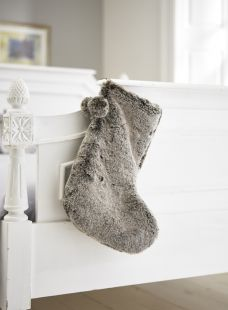 Elwick Faux Fur Christmas Stocking Mink