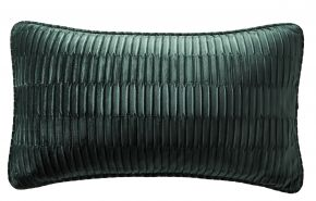 Karen Millen Velvet Pleat Boudoir Cushion In Emerald