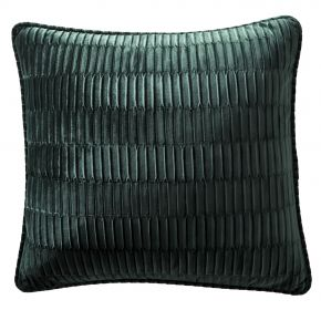 Karen Millen Velvet Pleat Square Cushion In Emerald